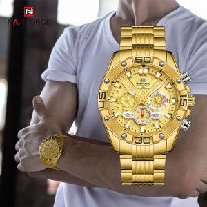 ساعت مردانه طلایی